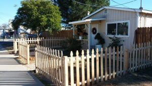 New Installed Picket Fence